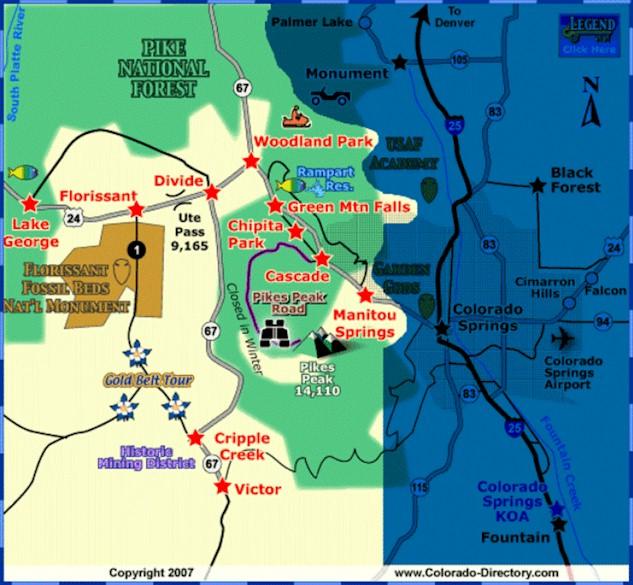 Peak Realty Management Woodland Park Colorado Area Information